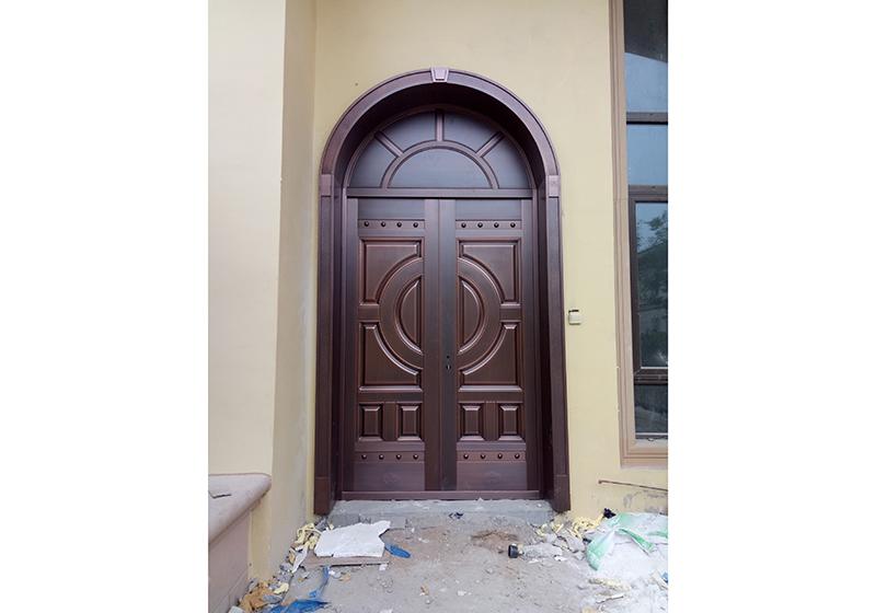 铜门安装案例