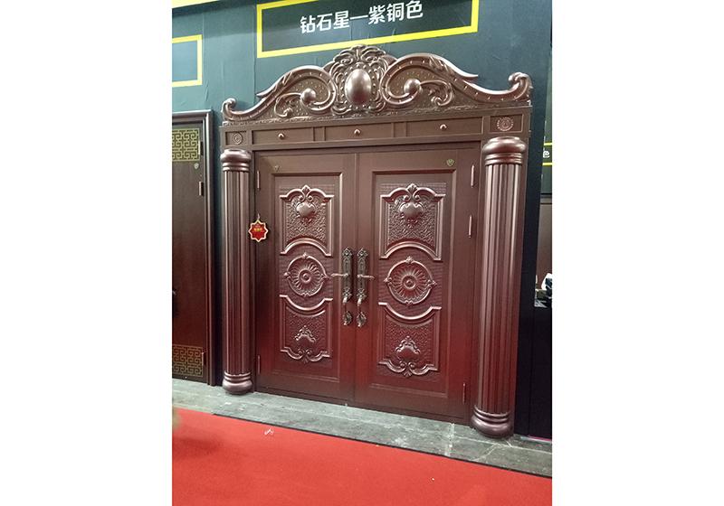 华能路铜门安装案例
